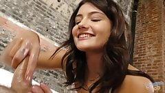 Hot teen Adria Rae teasing a cock