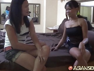 Girlfriend two cocks Asiansexdiary two asian girlfriends share tasty big dick