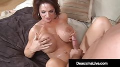 Mature Muff Deauxma Fucks & Milks Younger Man's Hard Cock!