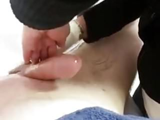 Bikini wax pic Guy waxing turns into hj