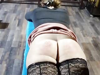 Adult wooden spanking paddles Miss a. is getting wooden spoon again