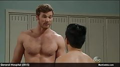 Derek Theler shirtless and sexy after shower