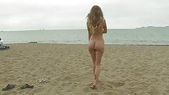 Desnudo en el playa
