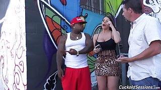 Hot MILF gangbang, interracial, squirting cougar cums