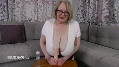 Huge tits oiled and ready for titty wanking