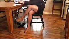 Hausfrau strumpfhose