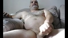 UK Silver Hair Daddy Wank his Fat Cock