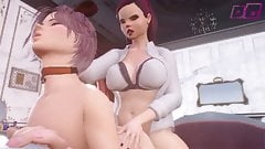 Gave a petboy for his birthday - 3D Shemale MILF fucks Guy