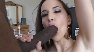 Christina Agave Takes On A Foot Long Black Cock Stretching