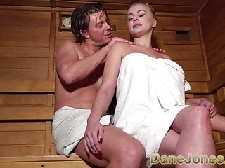 Busty jones Dane jones busty blonde minx in sexy sauna seduction suck an