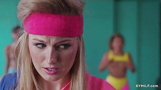 New Girl In A Lesbian Aerobic Club