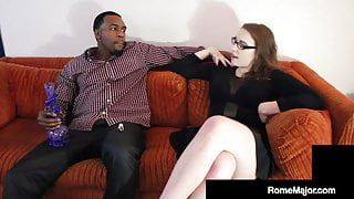 Black Brother Rome Major Slams His Roommate's Pale Sister!
