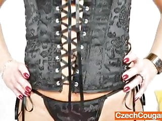 Sexy solo matures Sexy mother solo in black lingerie