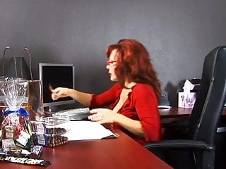 Black milfs cock sucking - Cute cock sucking redhead takes cumshot from black guy in office