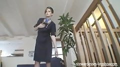 Czech Stewardess Strips, Teases, and Pleases