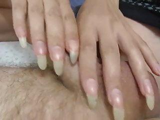 Cum for me long nails - Long nails hn ,cum