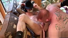 Ginger daady and silver daddy fuck very hot