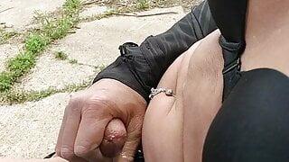 Crossdresser public caught masturbating
