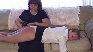 Kinky Housemother Punishes Two Coeds