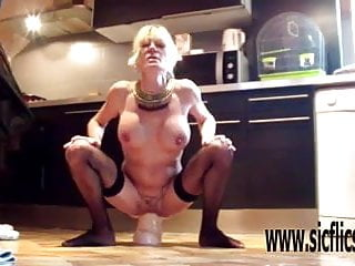 Insane dildo Insanely hard and deep xxl dildo fucking milf