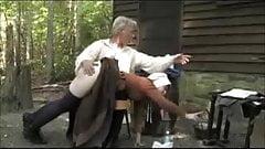 Puritan Wife Spanked Outdoors