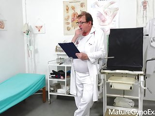 Latex rectal Horny milfs rectal speculum exam and fucking with medic