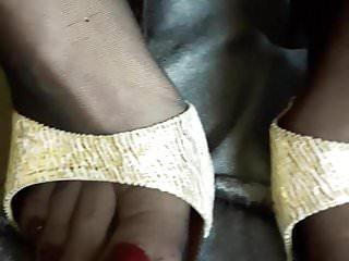 Women in pantyhose nylons high heels Feet in pantyhose and high heels