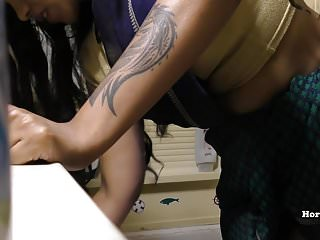 Boob indian south South indian maid cleaning bathroom and showering hidden cam