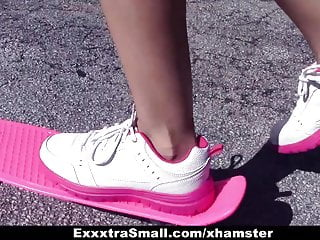 Hot teens skater boys - Exxxtrasmall - tiny skater teen gets hairy pussy drilled