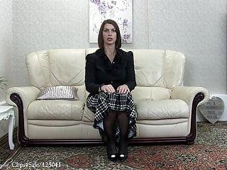 Sissy spanked Stocking clad sissy spanked