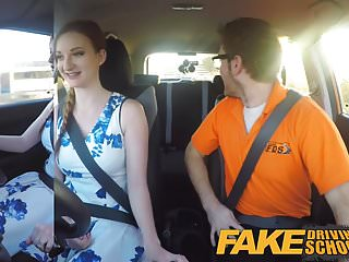 Mature redhead facial - Fake driving school pink nipples big tits redhead facial