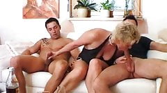 Mature woman and two young men - 4
