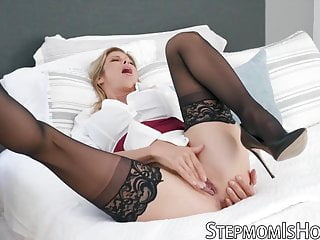 Cock hammer monster Stepmom alexis fawx caught masturbating and hammered