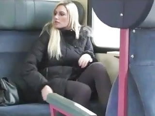Fucking ho - Blonde ho bate blow fuck and swallow on the train