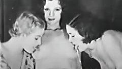 Vintage Lesbian Threesome - 1920s-30s