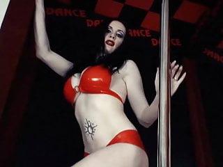 Rock-chick stimulator vibrator Goth rock chick poledance striptease