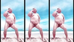 BEACH CHUB HAND FREE COUNTRY DADDY CUMS ALL OVER