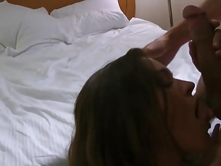 Flagpole fuck - Hot busty wife fuck hubbys friend