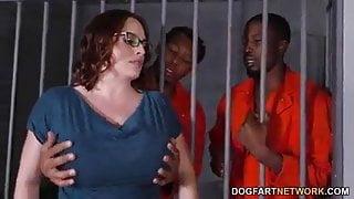 BBW Jail house gang bang