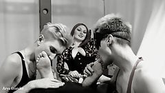 Foot Fetish Home Video Threesome Mistress and Feet Slaves