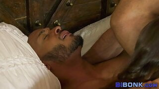 Bisexual ebony guy gets mouth jizzed