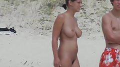 Hot nudist girl on the beach