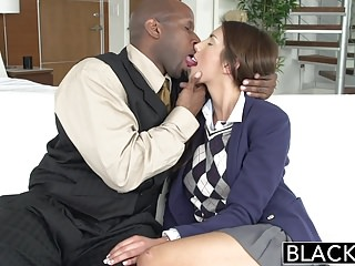 Transvestite modeling Blacked real model august ames loves black cock