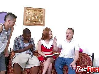Cheerleader gangbang videos Team fucks girl - redhead cheerleader jennifer anderson