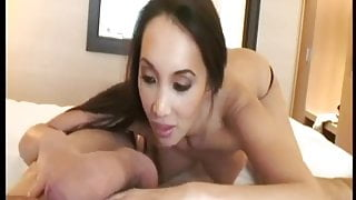 Asian MILF with french accent POV anal fuck