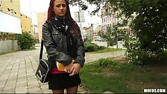 Public Pickups - Playful redhead is convinced to try anal
