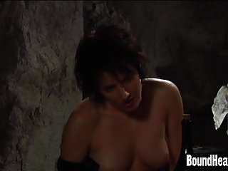 Lesbian handcuffed and fucked Handcuffed slave gets her pussy licked by mistress