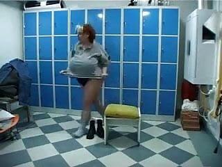 Pantyhose aerobics A new style aerobics.