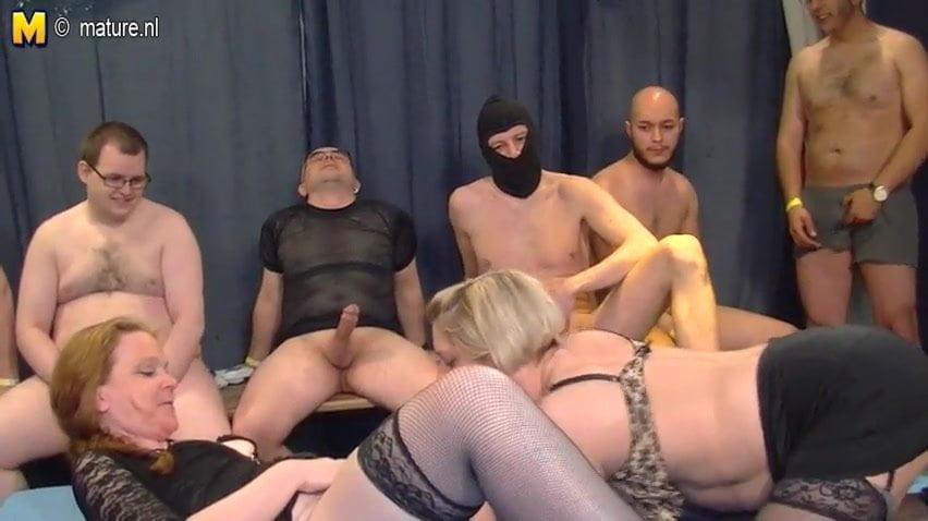 German Gangbang Porno