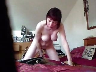 Use my vibrator Wife on hidden cam naked using vibrator